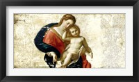 Framed Madonna and Child (after Procaccini)
