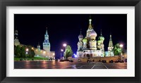 Framed Red Square at Night, Moscow