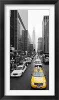 Taxi in Manhattan, NYC Framed Print