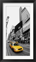 Taxi in Times Square, NYC Framed Print