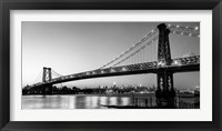 Framed Queensboro Bridge and Manhattan from Brooklyn, NYC