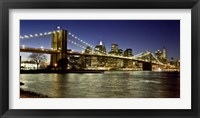 Framed Panoramic View of Lower Manhattan at dusk, NYC
