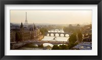 Framed Bridges over the Seine River, Paris