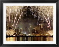 Framed Fireworks on Manhattan, NYC