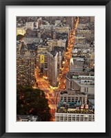 Framed Aerial View of Flatiron Building, NYC