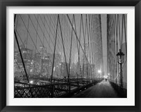 Framed On Brooklyn Bridge by Night, NYC