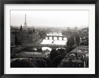 Framed Bridges over the Seine River, Paris