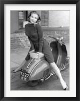Framed Posing on Motor Scooter