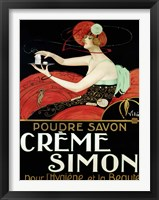 Framed Creme Simon, ca. 1925