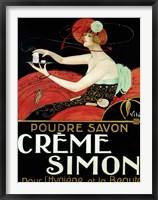 Framed Creme Simon, ca. 1925
