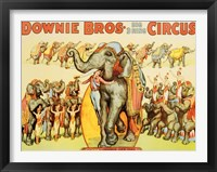 Framed Downie Bros. Big 3 Ring Circus, 1935
