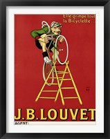 Louvet Bicycles Framed Print