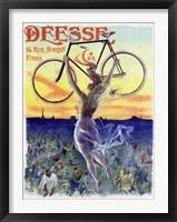 Bicycle Deesse, 1898 Framed Print