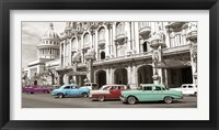 Framed Vintage American Cars in Havana, Cuba