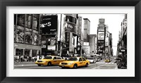 Framed Taxi in Times Square, NYC
