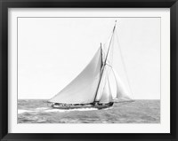 Framed Cutter Sailing on the Ocean, 1910