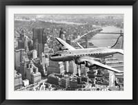 Framed Flying over Manhattan, NYC
