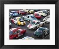 Framed Vintage sport cars at Grand Prix, Nurburgring