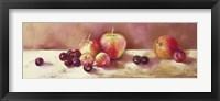 Cherries and Apples Framed Print
