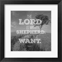 Framed Psalm 23 The Lord is My Shepherd - Field