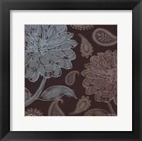 Cocoa Paisley I Framed Print