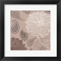 Cocoa Paisley II Framed Print