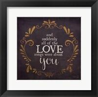 Love Songs Framed Print