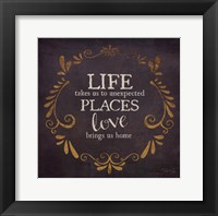 Love Brings Us Home Framed Print
