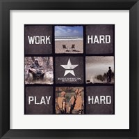 Framed Work Hard, Play Hard
