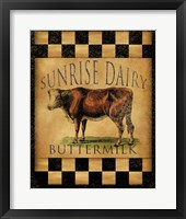 Sunrise Dairy Framed Print