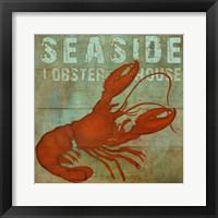 Framed Seaside Lobster