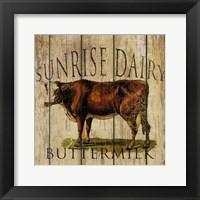 Sunrise Dairy Framed Print