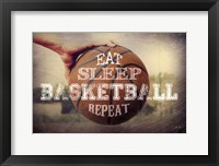 Framed Eat, Sleep, Basketball, Repeat