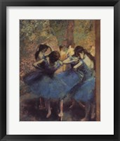 Framed Blue Dancers