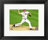 Framed Max Scherzer 2016 Action