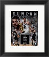 Framed Tim Duncan Legends Composite
