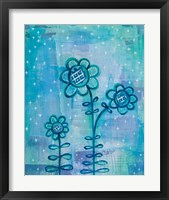 Framed Magical Flowers I