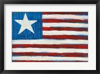 Framed Modern Americana Flag
