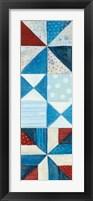 Modern Americana Panel I Framed Print