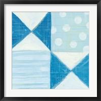 Modern Americana V Blue Framed Print