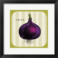 Linen Vegetable III Framed Print