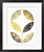 Golden Flower II Framed Print