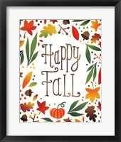 Harvest Time Happy Fall Framed Print