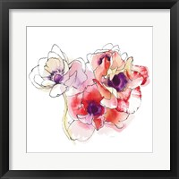 Mistral Trio I White Square Framed Print