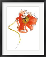 Red Icelands II on White Framed Print