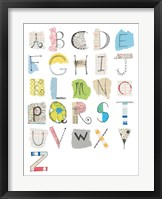 Framed Alphabet I