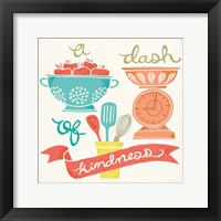 A Dash of Kindness Framed Print