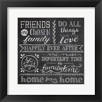 Inspiration Chalkboard IV Framed Print