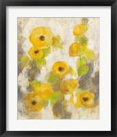 Floating Yellow Flowers II Framed Print