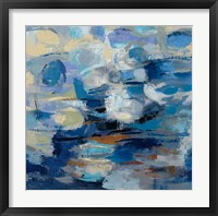 Ultramarine Waves I Framed Print